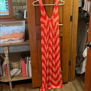 Coral maxi dress •JCREW • worn once